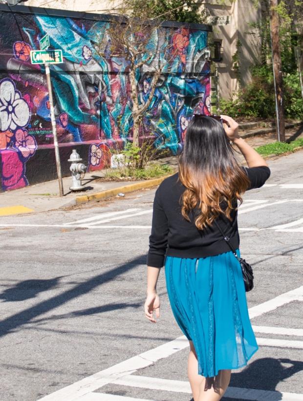 Emily in Little Five Points Crosswalk (1 of 1)